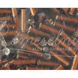 Sklenené tyčinky 6mm hnedé