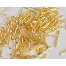 Sklenené tyčinky 30mm zlaté