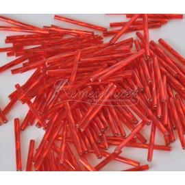 Sklenené tyčinky 30mm červené