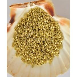 plastove perle zlaté 3mm