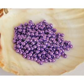 plastove perle 4mm fialové