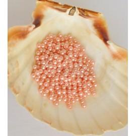 plastove perle 4mm oranžové