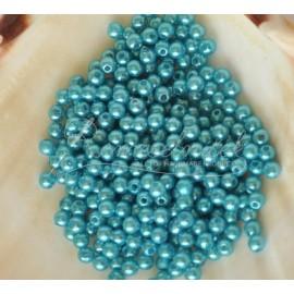 plastove perle 4mm tyrkisové