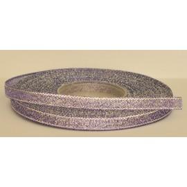ozdobná stuha brokátová fialovo strieborná 6mm