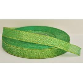 ozdobná stuha brokátová zeleno zlatá 12mm