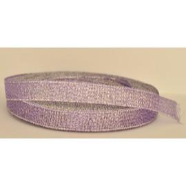 ozdobná stuha brokátová fialovo strieborná 12mm
