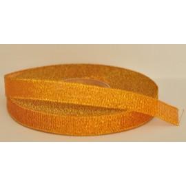 ozdobná stuha brokátová oranžovo zlatá 12mm