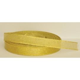 ozdobná stuha brokátová zlatá 12mm