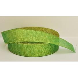 ozdobná stuha brokátová zeleno zlatá 25mm