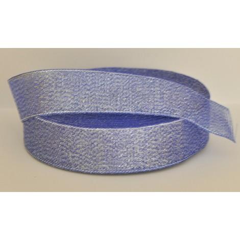 ozdobná stuha brokátová modro strieborná 12mm