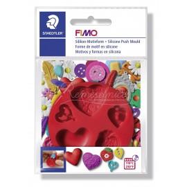 FIMO silikonová vytláčacia forma - Srdce
