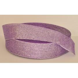 ozdobná stuha brokátová fialovo strieborná 25mm