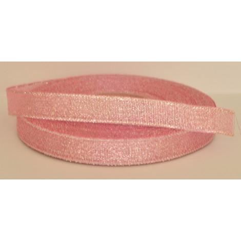 ozdobná stuha brokátová ružovo strieborná 25mm