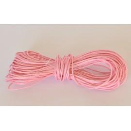 voskovaná šnúrka 1mm rúžová