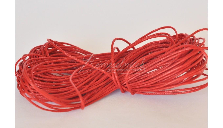 8677f17baf voskovaná šnúrka 1mm červená · voskovaná šnúrka 1mm červená ...