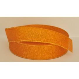 ozdobná stuha brokátová oranžovo zlatá 25mm