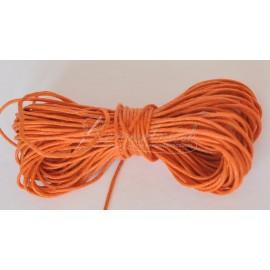 voskovaná šnúrka 1mm oranžová