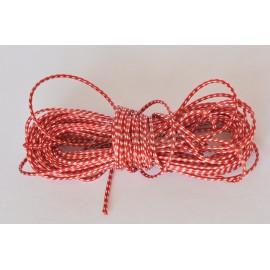 voskovaná šnúrka 1,5mm červeno biela