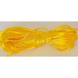 saténová šnúrka 1mm žltá