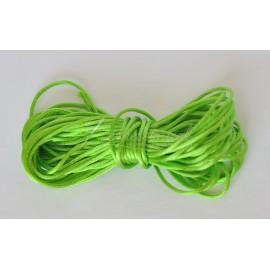 saténová šnúrka 1mm zelená