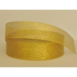 ozdobná stuha brokátová zlatá 25mm