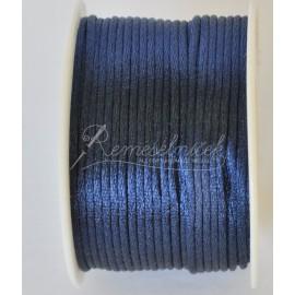 saténová šnúrka 2mm tmavo modrá