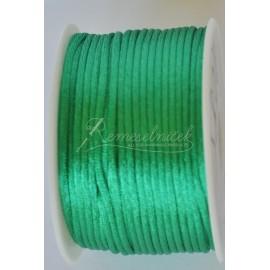 saténová šnúrka 2mm zelená