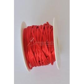saténová šnúrka 2mm červená
