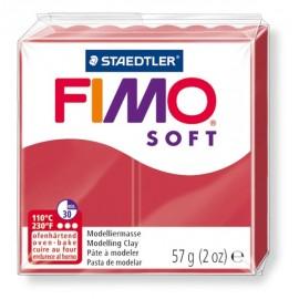 FIMO soft tmavo červená 57g
