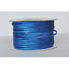 šnurka sutaška 3mm modrá lesklá