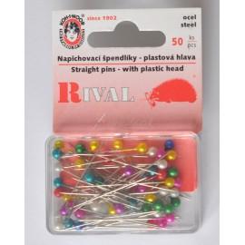 špendlíky 38mm perlet