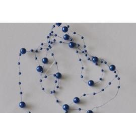 girlanda perlová modrá