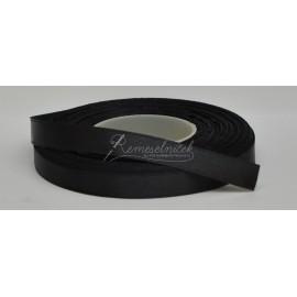 saténová stuha 9mm čierna, návin 27 metrov