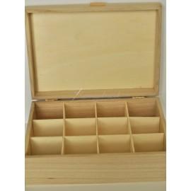 krabička 12 priehradok (255x185x90)