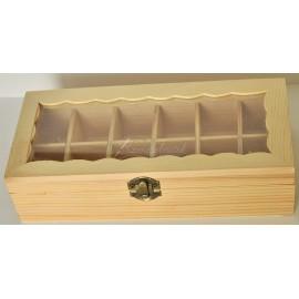 sklenena krabicka 12 priehradok (250x110x60)