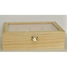 krabička 12 priehradok - sklenená (250x190x70)