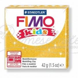 FIMO kids zlatá s trblietkami 42g