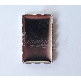 Lôžka pre krištálovú živicu - lôžko obdľžnik 21,5x13mm, farba platina