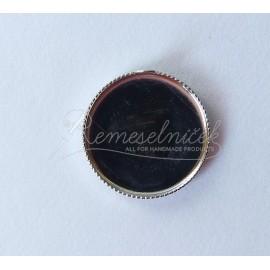 Lôžka pre krištálovú živicu - lôžko kruh 15mm, farba platina