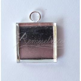 Lôžka pre krištálovú živicu - lôžko štvorec 15x15mm, farba platina