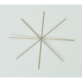 Drátené hviezdy - hviezda zlata 8cm