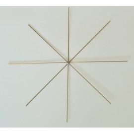 Drátené hviezdy - hviezda zlata 10cm