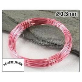 svetloružový drôt 0,3mm/5m
