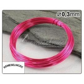 ružovy drôt 0,3mm/5m