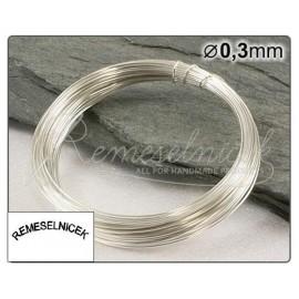 strieborný drôt 0,3mm/5m