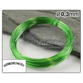 svetlozelený drôt 0,3mm/5m