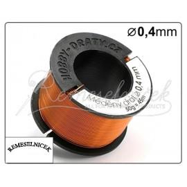 medený drôt 0,4mm/50g cca 45 metrov