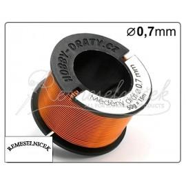 medený drôt 0,7mm/50g
