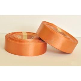 saténová stuha oranžovo hnedá  25mm