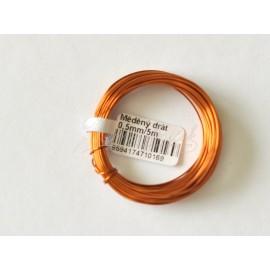 medený drôt 0,5mm /5metrov
